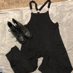 Current mood NWT slouchy baggy black overalls sm